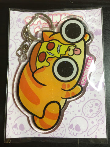 Pizza Cat Keychain