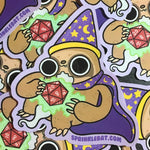 Sloth Wizard Sticker