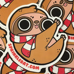 Holiday Sloth Sticker