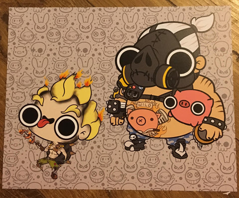 Junkrat and Roadhog Print