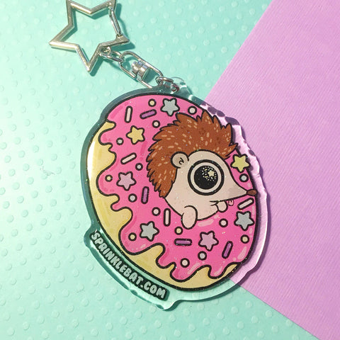Hedgehog Donut Keychain LAST ONE