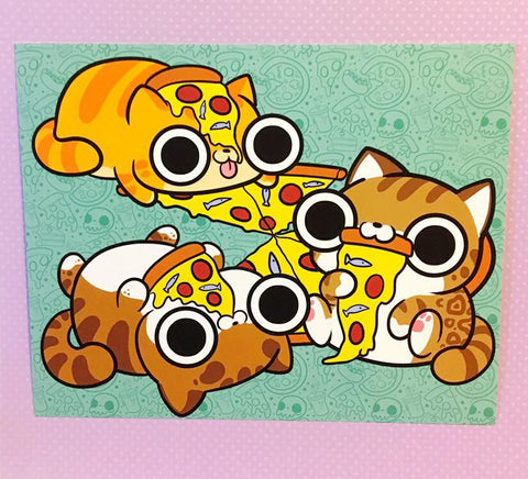 Pizza Cat Print