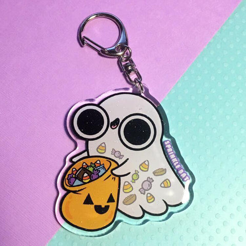 Ghost with Candy Keychain