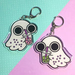 Ghost with Boba Keychain