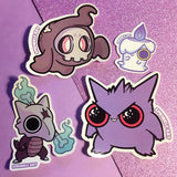 Ghost Pokemon Sticker Pack