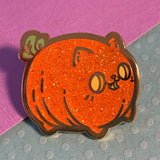 Pumpkin Kitty hard enamel pin
