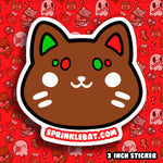 Gingerbread Cookie Cat Sticker