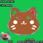 Gingerbread Cookie Cat Enamel Pin PRE-ORDER