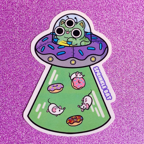 Donut Space Cat Sticker