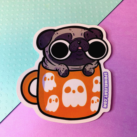 Pug Mug Ouija Sticker