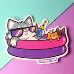 Pool Time Kitties Sticker