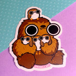 Chewie and Porgs Sticker