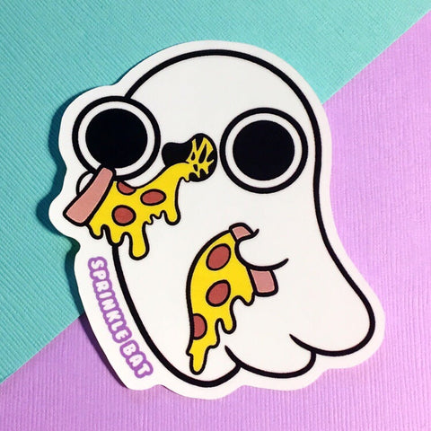 Pizza  Ghost Sticker