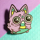 Pastel Glow Sugar High Bat hard enamel pin