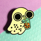 Boba Tea Ghost Glow in the Dark hard enamel pin