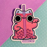 Lucky Cat Boba Drink Sticker