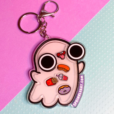 Ghost Snack Lover Shaker Keychain