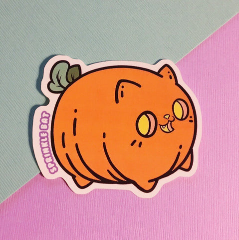 Pumpkin Kitty Sticker