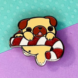 Holiday Pug Enamel Pin