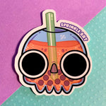 Skull Boba Drink Sticker