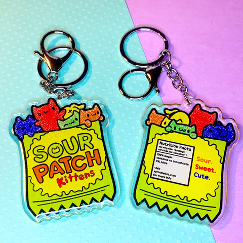 Sour Patch Kittens Keychain