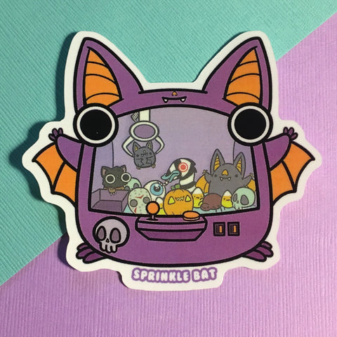 Spooky Bat Crane game Sticker