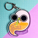 Ghost Drinking Boba Keychain
