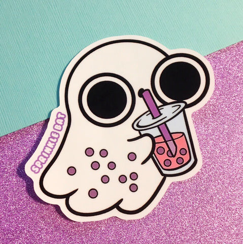 Boba Ghost Sticker