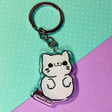 Snow Kitten Keychain