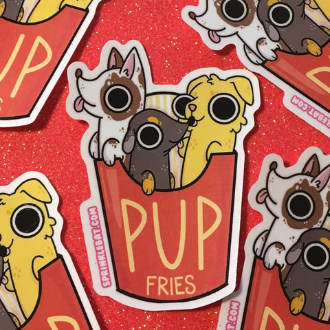 Pup Fries Sticker