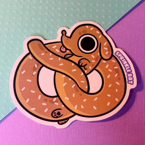 Pretzel Pup Sticker