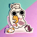 Ghost Loves Kitties Sticker