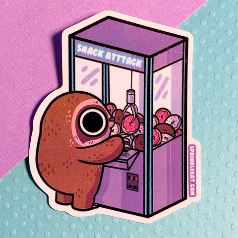 Donut crane sloth Sticker