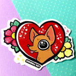 Valentine heart Sticker set