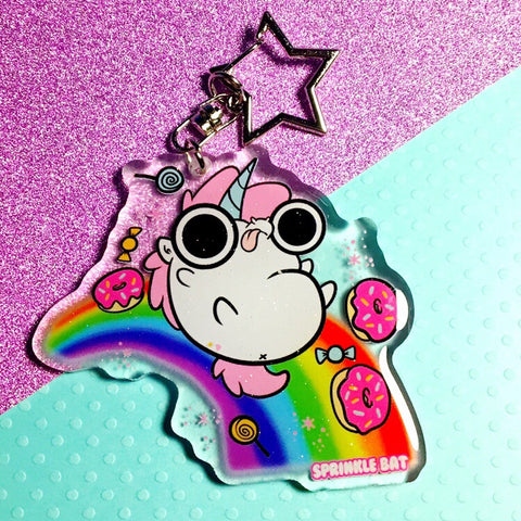 Unicorn Rainbow Keychain