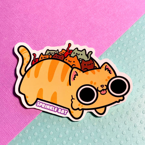 Taco Cat Bus Sticker
