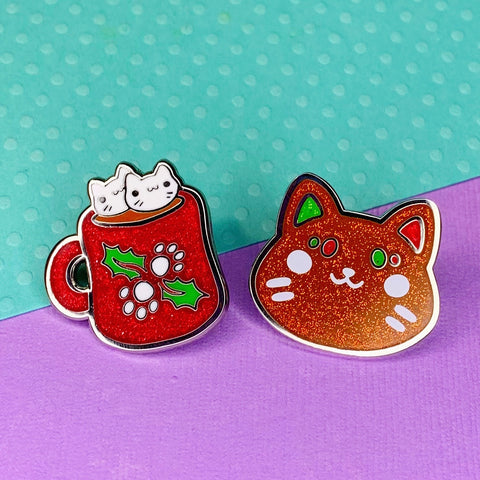Set of Coco and Cookie Enamel Pin