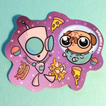 Gir Space Pug Sticker