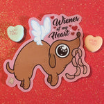 Wiener of my Heart Sticker