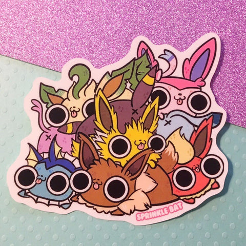 Eeveelution pile Sticker