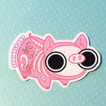Piggie ghost skeleton Sticker
