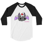 Sprinkle Bat 3/4 sleeve raglan shirt