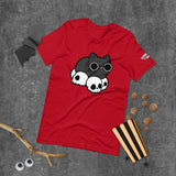 Skull Cat Black Short-Sleeve Unisex T-Shirt