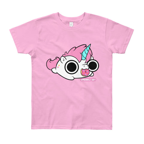 Unicorn Donut Youth Short Sleeve T-Shirt
