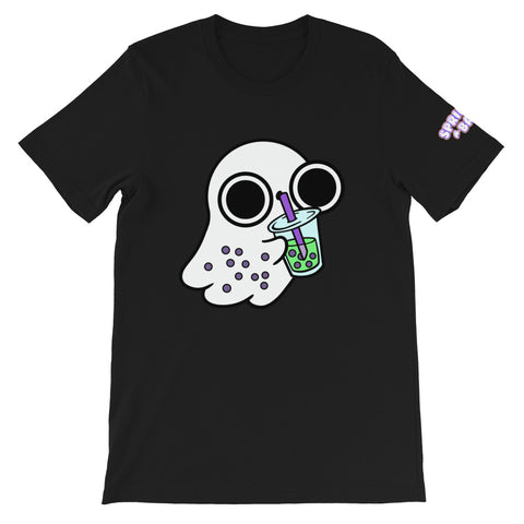 Bubble Tea Ghost Short-Sleeve Unisex T-Shirt