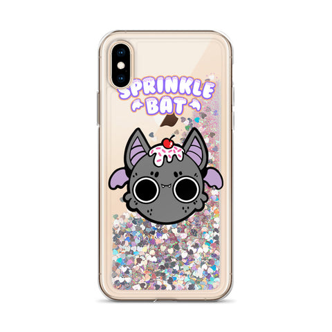 Sprinkle Bat Liquid Glitter Phone Case