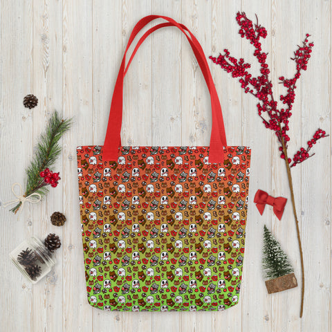 Holiday Mini Print Tote bag
