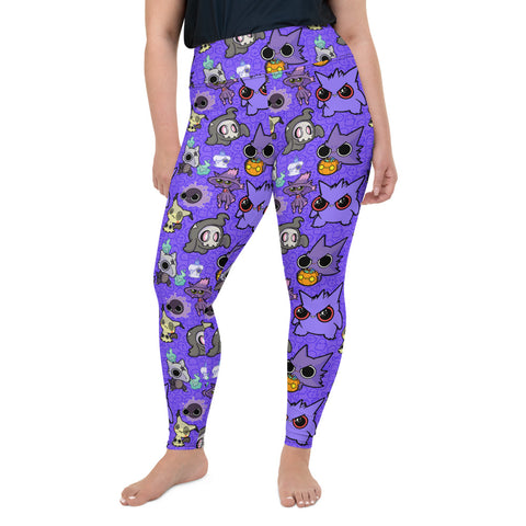Ghost Pokemon Plus Size Leggings