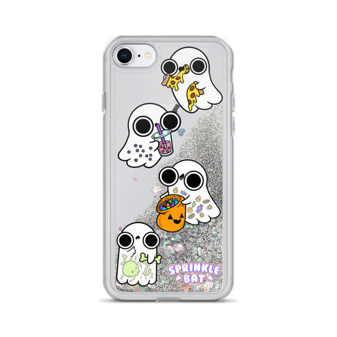 Ghost Foodies Liquid Glitter Phone Case