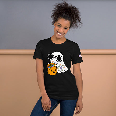 Candy Ghost Short-Sleeve Unisex T-Shirt